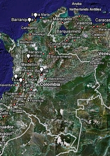 Map of Colombia - Colombian map